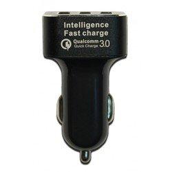 Универсальное автомобильное зарядное устройство Qualcomm Quick Charge 3.0 (PX/PСA-3USB-QuickCH) (черный)