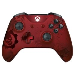 microsoft xbox one wireless controller gears of war 4 crimson omen