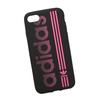 Силиконовый чехол-накладка для Apple iPhone 7 (0L-00029761) (черно-розовый) - Чехол для телефонаЧехлы для мобильных телефонов<br>Силиконовый чехол-накладка для Apple iPhone 7 поможет защитить Ваш мобильный телефон от царапин, потертостей и других нежелательных повреждений.<br>