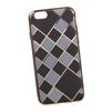 Силиконовый чехол-накладка для Apple iPhone 6, 6S (0L-00029550) (клетка с полосками, золотистый) - Чехол для телефонаЧехлы для мобильных телефонов<br>Силиконовый чехол-накладка для Apple iPhone 6, 6S поможет защитить Ваш мобильный телефон от царапин, потертостей и других нежелательных повреждений.<br>