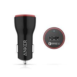 Универсальное автомобильное зарядное устройство Anker PowerDrive+ 1 (A2210012) (черный)