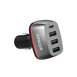 Универсальное автомобильное зарядное устройство Anker PowerDrive+ 4 (A2240011) (черный)