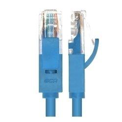 Патч-корд RJ-45 кат. 5e UTP 1м литой (Greenconnect GCR-LNC011-1.0m) (синий)