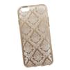 Силиконовый чехол-накладка для Apple iPhone 6, 6S (0L-00029597) (цветочный узор, золотистый) - Чехол для телефонаЧехлы для мобильных телефонов<br>Силиконовый чехол-накладка для Apple iPhone 6, 6S поможет защитить Ваш мобильный телефон от царапин, потертостей и других нежелательных повреждений.<br>