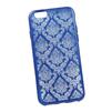Силиконовый чехол-накладка для Apple iPhone 6, 6S (0L-00029598) (цветочный узор, синий) - Чехол для телефонаЧехлы для мобильных телефонов<br>Силиконовый чехол-накладка для Apple iPhone 6, 6S поможет защитить Ваш мобильный телефон от царапин, потертостей и других нежелательных повреждений.<br>