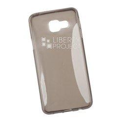 Силиконовый чехол-накладка для Samsung Galaxy A3 2016 (0L-00029806) (серый)
