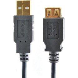Кабель USB АM-USB АF 3м (Belsis SG1193) (черный)