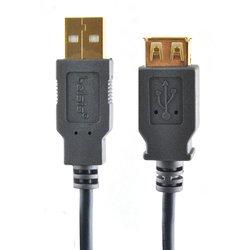 Кабель USB АM-USB АF 3м (Belsis BGL1193) (черный)
