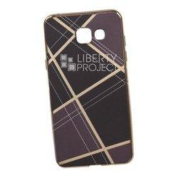 Силиконовый чехол-накладка для Samsung Galaxy A5 2016 (0L-00029580) (коричневая клетка, золотистый)