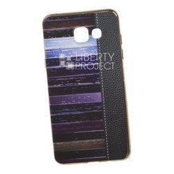 Силиконовый чехол-накладка для Samsung Galaxy A5 2016 (0L-00029544) (кожа и краски, золотистый)