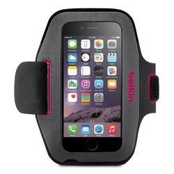 "Чехол с ремешком на руку для Apple iPhone 6 4.7"" (Belkin Sport-Fit Armband F8W500BTC01) (темно-серый, розовый)"