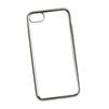 Чехол-накладка для Apple iPhone 7 (Liberti Project 0L-00029778) (прозрачный, серебристая рамка) - Чехол для телефонаЧехлы для мобильных телефонов<br>Чехол-накладка плотно облегает заднюю крышку телефона и гарантирует ее надежную защиту от пыли, царапин, потертостей и других вешних воздействий.<br>