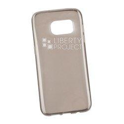Силиконовый чехол-накладка для Samsung Galaxy S7 Edge (Liberti Project 0L-00029793) (прозрачный, серый)