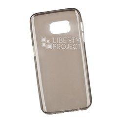 Силиконовый чехол-накладка для Samsung Galaxy S7 (Liberti Project 0L-00029791) (прозрачный, серый)