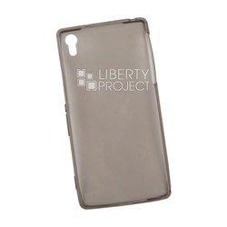 Силиконовый чехол-накладка для Sony Xperia Z2 (Liberti Project 0L-00028399) (прозрачный, черный)