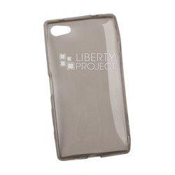 Силиконовый чехол-накладка для Sony Xperia Z5 Compact (Liberti Project 0L-00028401) (прозрачный, черный)