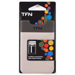 Карман-наклейка для смартфонов (TFN PO-02P-GY) (серый)