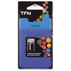 Карман-наклейка для смартфонов (TFN PO-02P-BL) (синий)