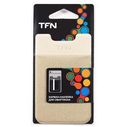 Карман-наклейка для смартфонов (TFN PO-02P-BE) (бежевый)