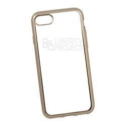 Чехол-накладка для Apple iPhone 7 (Liberti Project 0L-00029645) (прозрачный, золотистая рамка)