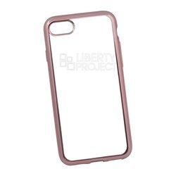 Чехол-накладка для Apple iPhone 7 (Liberti Project 0L-00029646) (прозрачный, розовая рамка)