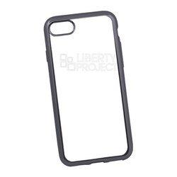 Чехол-накладка для Apple iPhone 7 (Liberti Project 0L-00029648) (прозрачный, черная рамка)