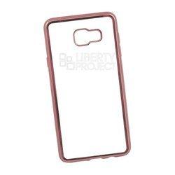 Чехол-накладка для Samsung Galaxy A7 2016 (Liberti Project 0L-00027994) (прозрачный, розовая рамка)