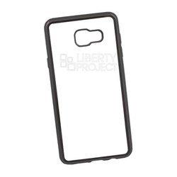 Чехол-накладка для Samsung Galaxy A7 2016 (Liberti Project 0L-00027980) (прозрачный, черная рамка)
