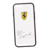 Чехол-накладка для Apple iPhone 6, 6S (Ferrari 0L-00029887) (прозрачный, белый кант)  - Чехол для телефонаЧехлы для мобильных телефонов<br>Чехол-накладка плотно облегает заднюю крышку телефона и гарантирует ее надежную защиту от пыли, царапин, потертостей и других вешних воздействий.<br>