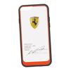 Чехол-накладка для Apple iPhone 6, 6S (Ferrari 0L-00029890) (прозрачный, красный кант)  - Чехол для телефонаЧехлы для мобильных телефонов<br>Чехол-накладка плотно облегает заднюю крышку телефона и гарантирует ее надежную защиту от пыли, царапин, потертостей и других вешних воздействий.<br>