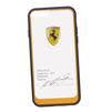 Чехол-накладка для Apple iPhone 6, 6S (Ferrari 0L-00029888) (прозрачный, оранжевый кант) - Чехол для телефонаЧехлы для мобильных телефонов<br>Чехол-накладка плотно облегает заднюю крышку телефона и гарантирует ее надежную защиту от пыли, царапин, потертостей и других вешних воздействий.<br>