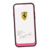 Чехол-накладка для Apple iPhone 6, 6S (Ferrari 0L-00029889) (прозрачный, розовый кант) - Чехол для телефонаЧехлы для мобильных телефонов<br>Чехол-накладка плотно облегает заднюю крышку телефона и гарантирует ее надежную защиту от пыли, царапин, потертостей и других вешних воздействий.<br>