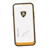 Чехол-накладка для Apple iPhone 6, 6S (Lamborghini 0L-00029899) (прозрачный, оранжевый кант) - Чехол для телефонаЧехлы для мобильных телефонов<br>Чехол-накладка плотно облегает заднюю крышку телефона и гарантирует ее надежную защиту от пыли, царапин, потертостей и других вешних воздействий.<br>