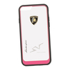 Чехол-накладка для Apple iPhone 6, 6S (Lamborghini 0L-00029900) (прозрачный, розовый кант)  - Чехол для телефонаЧехлы для мобильных телефонов<br>Чехол-накладка плотно облегает заднюю крышку телефона и гарантирует ее надежную защиту от пыли, царапин, потертостей и других вешних воздействий.<br>