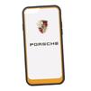 Чехол-накладка для Apple iPhone 6, 6S (Porsche 0L-00029893) (прозрачный, оранжевый кант) - Чехол для телефонаЧехлы для мобильных телефонов<br>Чехол-накладка плотно облегает заднюю крышку телефона и гарантирует ее надежную защиту от пыли, царапин, потертостей и других вешних воздействий.<br>