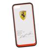 Чехол-накладка для Apple iPhone 5, 5S (Ferrari 0L-00029869) (прозрачный, красный кант) - Чехол для телефонаЧехлы для мобильных телефонов<br>Чехол-накладка плотно облегает заднюю крышку телефона и гарантирует ее надежную защиту от пыли, царапин, потертостей и других вешних воздействий.<br>