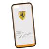 Чехол-накладка для Apple iPhone 5, 5S (Ferrari 0L-00029867) (прозрачный, оранжевый кант)  - Чехол для телефонаЧехлы для мобильных телефонов<br>Чехол-накладка плотно облегает заднюю крышку телефона и гарантирует ее надежную защиту от пыли, царапин, потертостей и других вешних воздействий.<br>