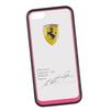Чехол-накладка для Apple iPhone 5, 5S (Ferrari 0L-00029868) (прозрачный, розовый кант) - Чехол для телефонаЧехлы для мобильных телефонов<br>Чехол-накладка плотно облегает заднюю крышку телефона и гарантирует ее надежную защиту от пыли, царапин, потертостей и других вешних воздействий.<br>