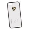 Чехол-накладка для Apple iPhone 5, 5S (Lamborghini 0L-00029876) (прозрачный, белый кант) - Чехол для телефонаЧехлы для мобильных телефонов<br>Чехол-накладка плотно облегает заднюю крышку телефона и гарантирует ее надежную защиту от пыли, царапин, потертостей и других вешних воздействий.<br>