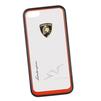 Чехол-накладка для Apple iPhone 5, 5S (Lamborghini 0L-00029879) (прозрачный, красный кант)  - Чехол для телефонаЧехлы для мобильных телефонов<br>Чехол-накладка плотно облегает заднюю крышку телефона и гарантирует ее надежную защиту от пыли, царапин, потертостей и других вешних воздействий.<br>