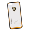 Чехол-накладка для Apple iPhone 5, 5S (Lamborghini 0L-00029877) (прозрачный, оранжевый кант) - Чехол для телефонаЧехлы для мобильных телефонов<br>Чехол-накладка плотно облегает заднюю крышку телефона и гарантирует ее надежную защиту от пыли, царапин, потертостей и других вешних воздействий.<br>