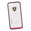 Чехол-накладка для Apple iPhone 5, 5S (Lamborghini 0L-00029878) (прозрачный, розовый кант) - Чехол для телефонаЧехлы для мобильных телефонов<br>Чехол-накладка плотно облегает заднюю крышку телефона и гарантирует ее надежную защиту от пыли, царапин, потертостей и других вешних воздействий.<br>