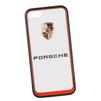 Чехол-накладка для Apple iPhone 5, 5S (Porsche 0L-00029874) (прозрачный, красный кант) - Чехол для телефонаЧехлы для мобильных телефонов<br>Чехол-накладка плотно облегает заднюю крышку телефона и гарантирует ее надежную защиту от пыли, царапин, потертостей и других вешних воздействий.<br>
