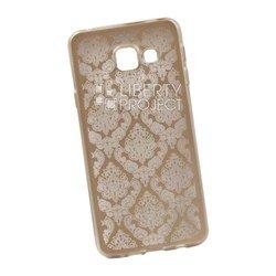 Чехол-накладка для Samsung Galaxy A3 2016 (Liberti Project 0L-00029609) (золотистый, цветочный узор)