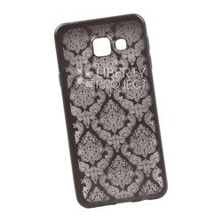 Чехол-накладка для Samsung Galaxy A3 2016 (Liberti Project 0L-00029608) (серый, цветочный узор)