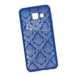 Чехол-накладка для Samsung Galaxy A3 2016 (Liberti Project 0L-00029610) (синий, цветочный узор)