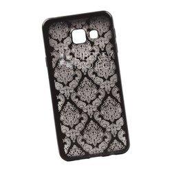 Чехол-накладка для Samsung Galaxy A3 2016 (Liberti Project 0L-00029613) (черный, цветочный узор)