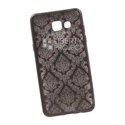 Чехол-накладка для Samsung Galaxy A5 2016 (Liberti Project 0L-00029614) (серый, цветочный узор)