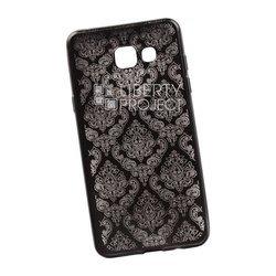 Чехол-накладка для Samsung Galaxy A5 2016 (Liberti Project 0L-00029620) (черный, цветочный узор)