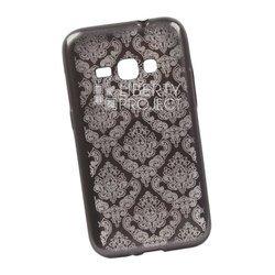 Чехол-накладка для Samsung Galaxy J1 2016 (Liberti Project 0L-00029626) (серый, цветочный узор)